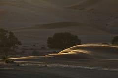 De samenvatting van het zandduin van vormen en kleur Stock Afbeeldingen