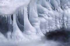 De samenvatting van ijskegels Stock Afbeeldingen