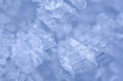 De samenvatting van ijskristallen Stock Foto's