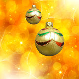 De samenvatting van Kerstmis met Kerstmisdecor royalty-vrije illustratie