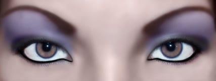 De samenvatting van ogen Stock Afbeeldingen