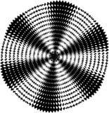 De samenvatting verdraaide zwart-witte achtergrond Optische illusie van vervormde oppervlakte Verdraaide strepen Gestileerde 3d t royalty-vrije illustratie