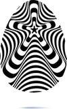 De samenvatting verdraaide zwart-witte achtergrond Optische illusie van vervormde oppervlakte Verdraaide strepen Gestileerde 3d t vector illustratie