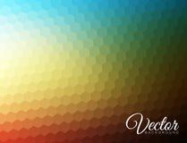 De samenvatting vertroebelde hexagonale achtergrond Royalty-vrije Stock Afbeelding