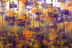 De samenvatting vertroebelde kleurrijke achtergrond met het beeld van vingerafdrukvlekken en smudges, en moderne fantasiestijl royalty-vrije illustratie