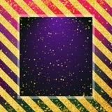 De samenvatting vertroebelde kleurrijke achtergrond met stofgoud Gouden strepen op achtergrond Royalty-vrije Stock Foto