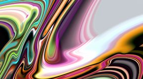 De samenvatting vertroebelde levendige zachte vlotte lijnen, levendige golvenlijnen, contrast abstracte achtergrond stock afbeelding