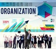 De Samenwerking Team Structure Concept van het organisatiebeheer stock illustratie
