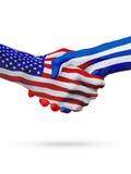 De samenwerking van het de vlaggenconcept van Verenigde Staten en van Cuba, zaken, de sportenconcurrentie royalty-vrije illustratie