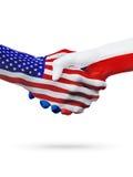 De samenwerking van het de vlaggenconcept van Verenigde Staten en van de Tsjechische Republiek, zaken, de sportenconcurrentie stock illustratie