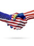 De samenwerking van het de vlaggenconcept van Verenigde Staten en van Maleisië, zaken, de sportenconcurrentie vector illustratie