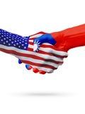 De samenwerking van het de vlaggenconcept van Verenigde Staten en van Taiwan, zaken, de sportenconcurrentie stock illustratie