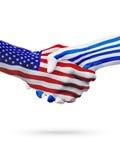 De samenwerking van het de vlaggenconcept van Verenigde Staten en van Uruguay, zaken, de sportenconcurrentie stock illustratie
