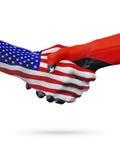 De samenwerking van het de vlaggenconcept van Verenigde Staten, Papoea-Nieuw-Guinea, zaken stock illustratie