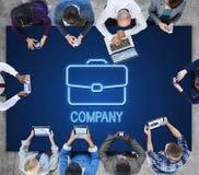 De Samenwerkingsconcept van de bedrijfsaktentas Vertrouwelijk Groei Royalty-vrije Stock Afbeelding