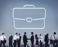 De Samenwerkingsconcept van de bedrijfsaktentas Vertrouwelijk Groei Stock Foto's