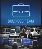 De Samenwerkingsconcept van de bedrijfsaktentas Vertrouwelijk Groei Royalty-vrije Stock Foto