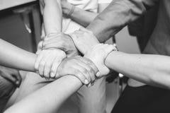 De Samenwerkingsconcept van de groepswerksamenhorigheid Hoogste mening Stock Foto's