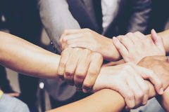 De Samenwerkingsconcept van de groepswerksamenhorigheid Hoogste mening Stock Afbeelding