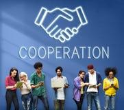 De Samenwerkingsconcept van de partnerschapsovereenkomstsamenwerking royalty-vrije stock foto