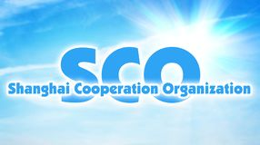 De de samenwerkingsorganisatie van Shanghai, SCO Internationale alliantie van sommige staten van Azië stock illustratie