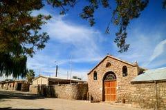 De San Lucas des Heiligen Lucas Church oder Iglesia in der Stadt von Toconao, Nord-Chile lizenzfreies stockbild