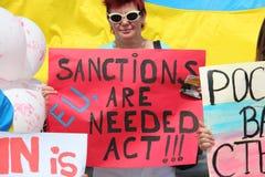 De sancties zijn nodig Stock Afbeeldingen