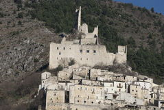 De Sanctis castle, Roccacasale, Abruzzi,Italy Royalty Free Stock Image