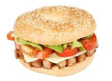 De sandwich van Bagle Stock Afbeeldingen