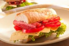 De sandwich van Baguette Stock Foto