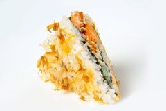 De sandwich van bonitersushi met tonijn Stock Fotografie