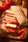 De sandwich van Ciabatta Stock Foto