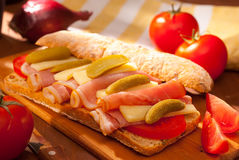 De sandwich van Ciabatta Stock Afbeelding