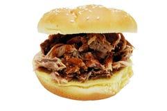 De Sandwich van de barbecue Stock Foto's