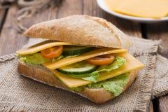 De Sandwich van de cheddarkaas royalty-vrije stock foto's