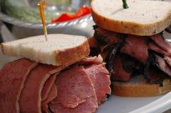 De sandwich van de delicatessenwinkel Stock Foto