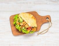 De Sandwich van de Donerkebab Stock Afbeeldingen