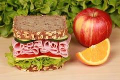 De Sandwich van de ham Stock Fotografie