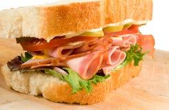 De Sandwich van de ham Royalty-vrije Stock Afbeelding