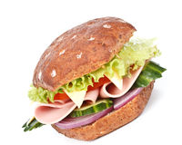 De sandwich van de ham Stock Foto's