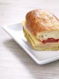 De sandwich van de ham en van de kaas Royalty-vrije Stock Foto's