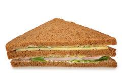 De sandwich van de kaas en van de ham Stock Foto's