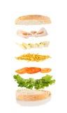 De Sandwich van de kaas en van de Ham Stock Fotografie