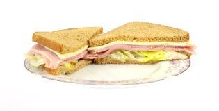 De Sandwich van de Kaas van de ham Stock Afbeeldingen