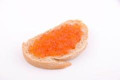 De sandwich van de kaviaar Stock Foto