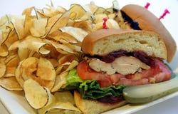 De Sandwich van de kip Stock Afbeeldingen