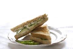 De sandwich van de komkommer Royalty-vrije Stock Fotografie
