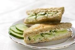 De sandwich van de komkommer Stock Afbeeldingen