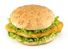De sandwich van de kotelet met salade Stock Foto