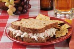 De sandwich van de krabsalade stock foto's